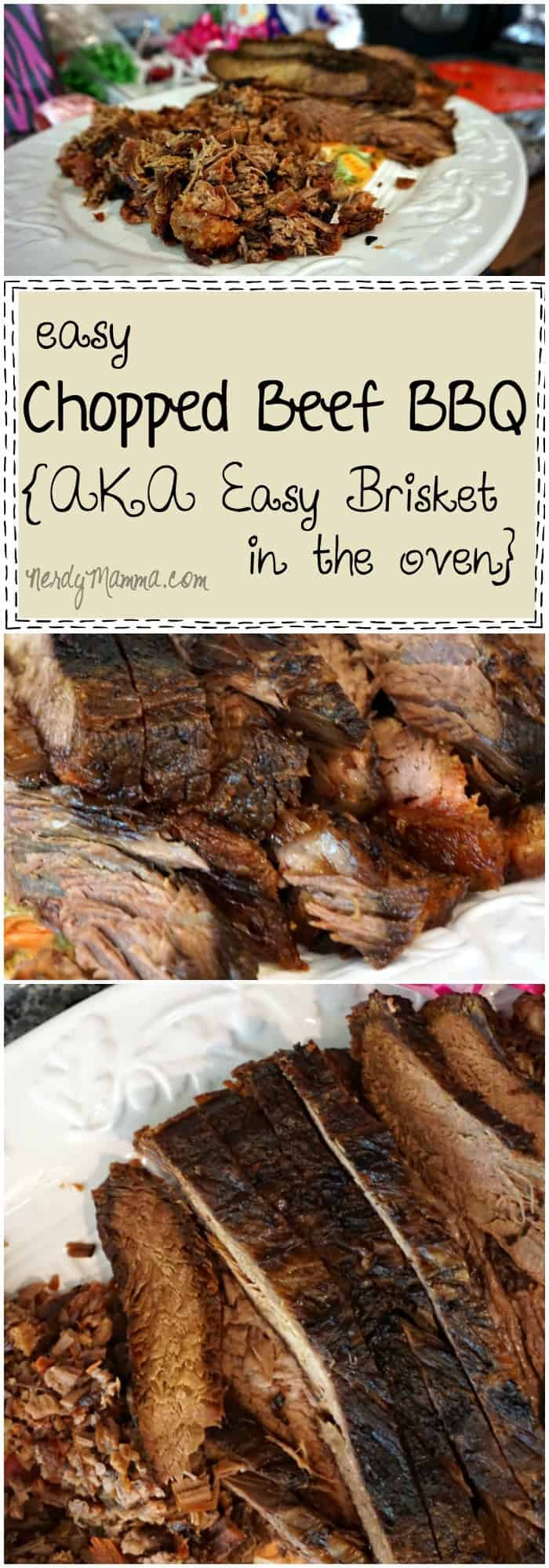 This recipe for easy chopped beef BBQ sounds--well, easy. And I thought making brisket would be hard...LOL!