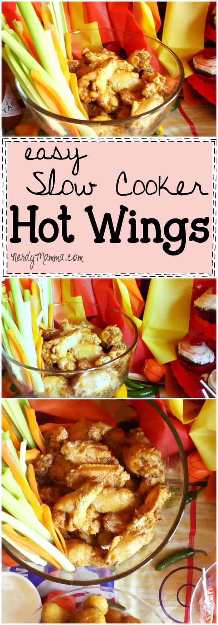 This recipe for making hot wings in the slow cooker is so EASY! I didn't know it could be this hands-off...I have to do this.