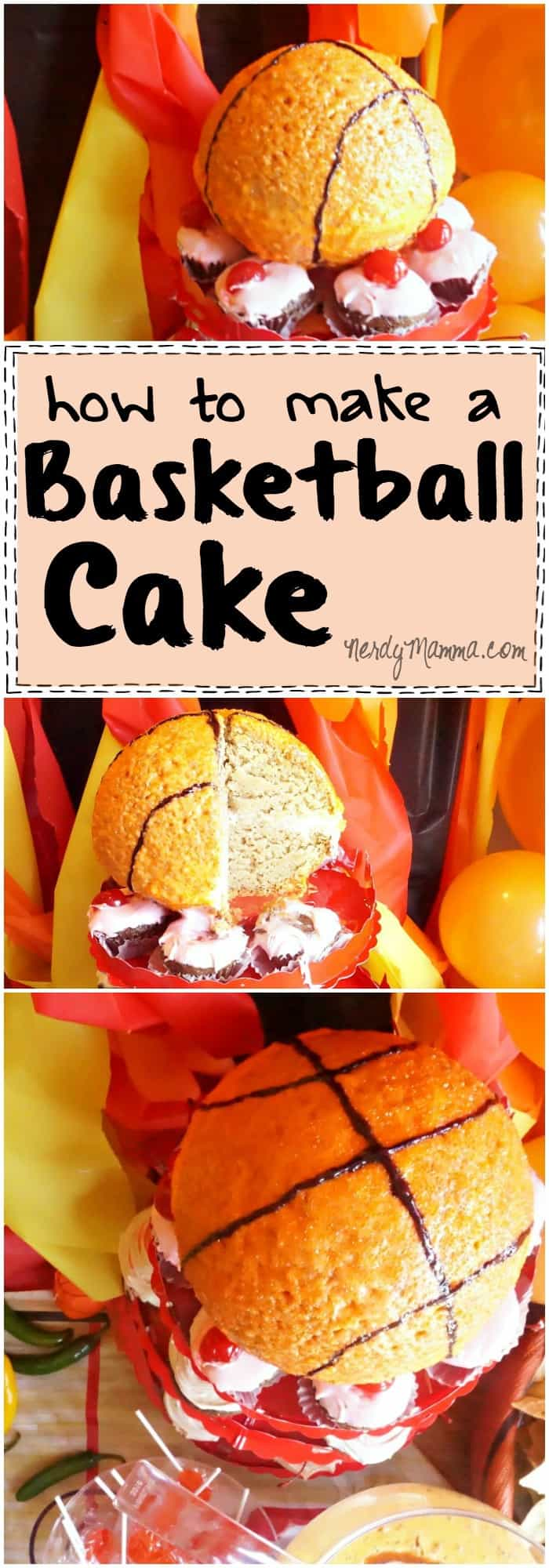 This tutorial for making a basketball cake is so easy! I love it. And the cake recipe that goes with it Yummy!