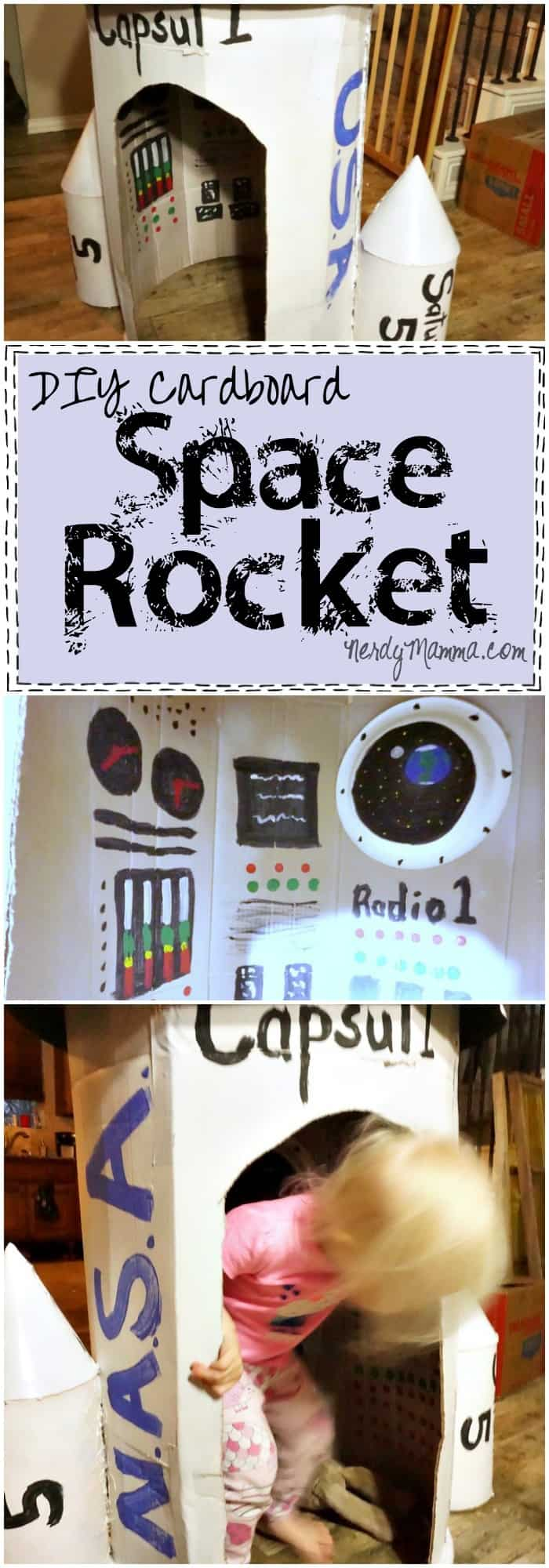 This tutorial for making your own cardboard space rocket is so EASY! I had no idea...So maybe this weekend