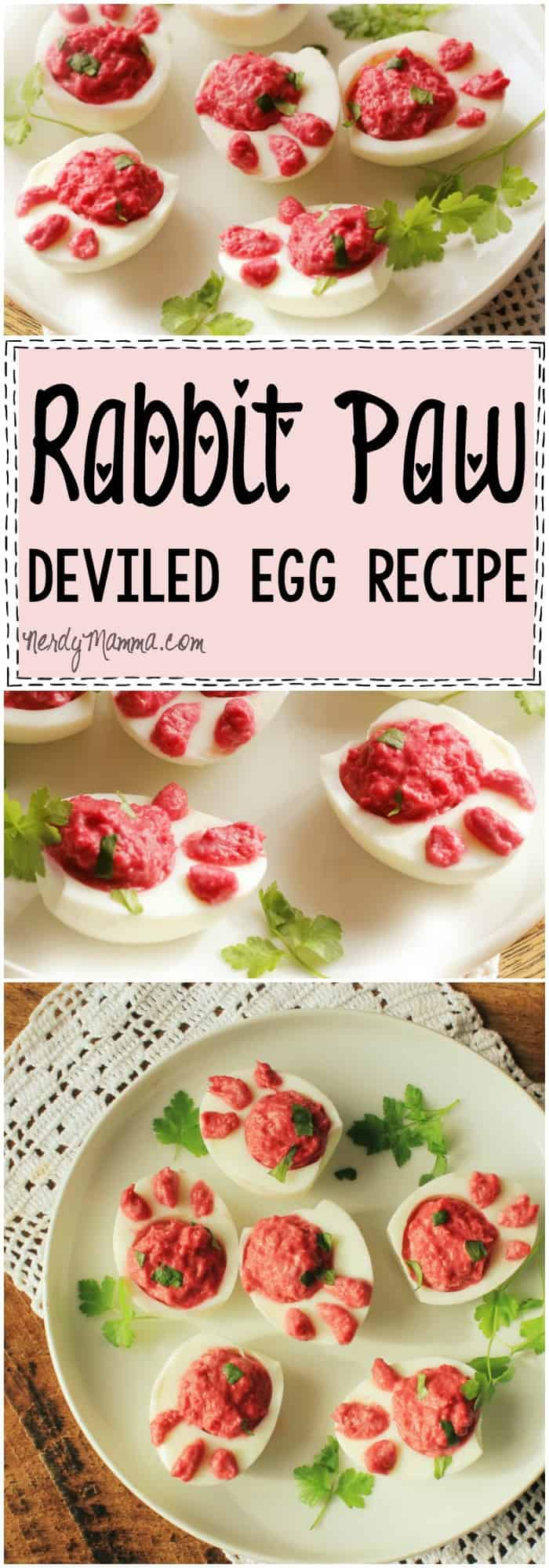 This tutorial for these little rabbit paw deviled eggs--so cute! And easy!