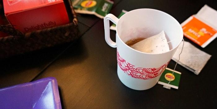 diy teacups at a brunch tea party