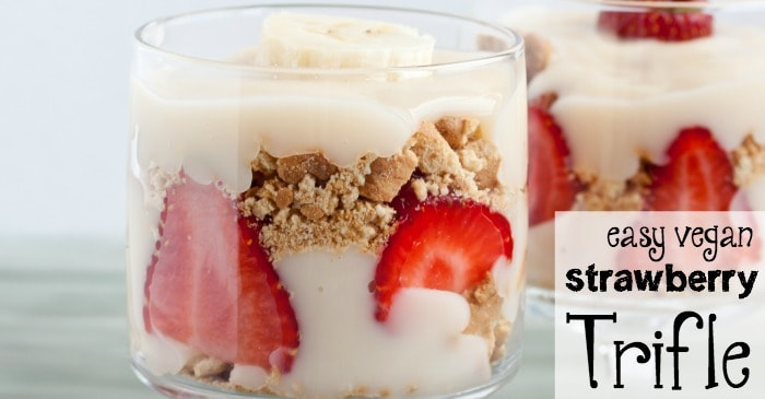 easy gluten-free vegan strawberry trifle recipe