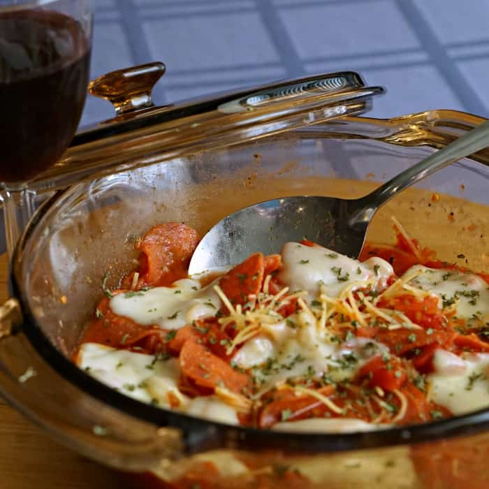 easy pepperoni pasta cassarole sq