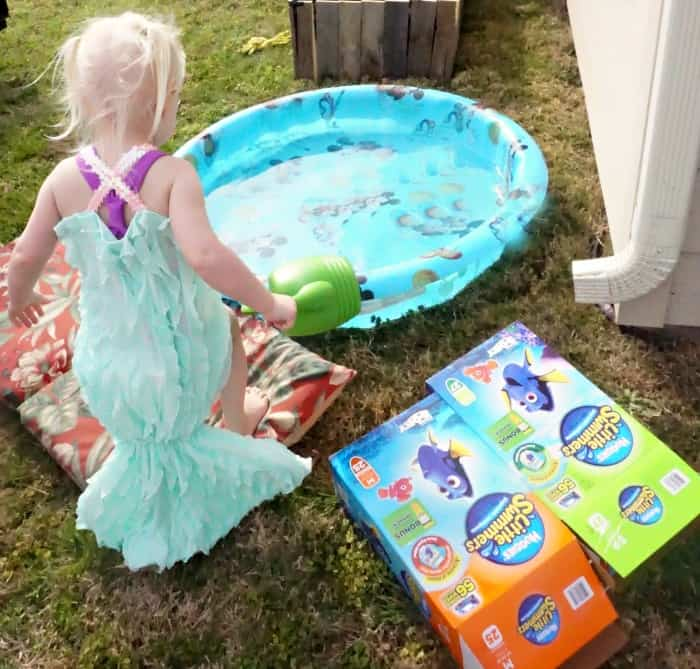 easy way to make a mermaid tail for a kid's swimsuit hero
