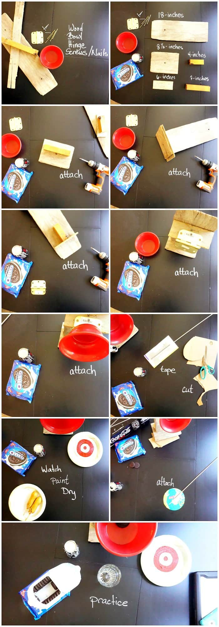 easy way to make a miniature dunking booth for a party