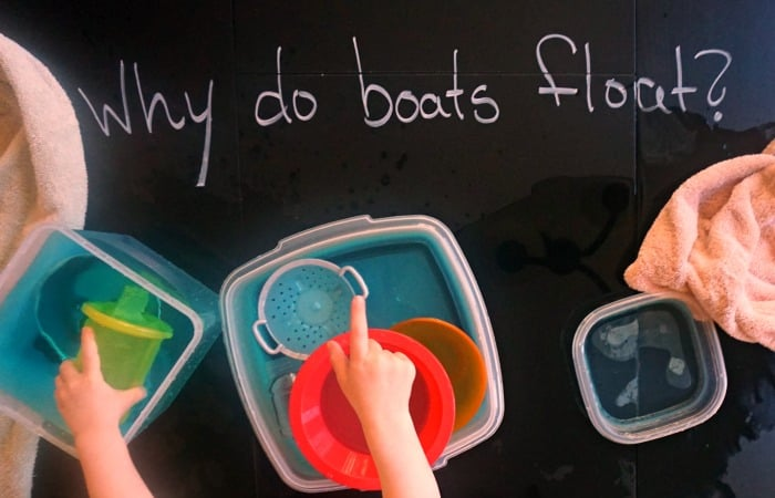 experiment for toddlers about how boats float feature