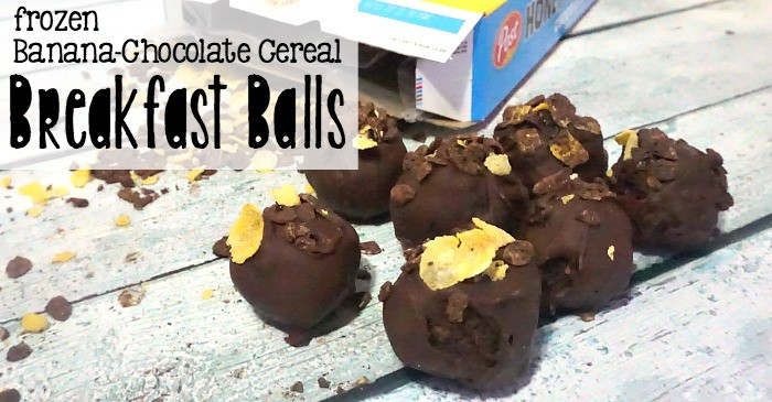 frozen banana-chocolate cereal breakfast balls fb