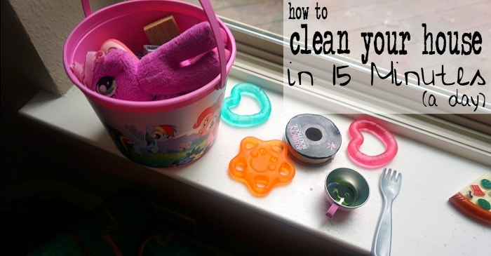 how to clean your house in 15 minutes a day fb