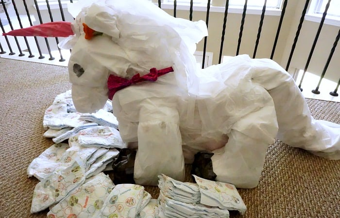 how to make a diaper cake shaped like a unicorn feature
