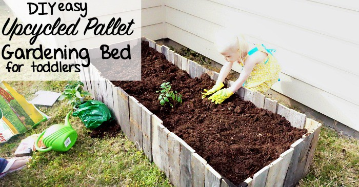 how to make a raised gardening bed using a pallet fb