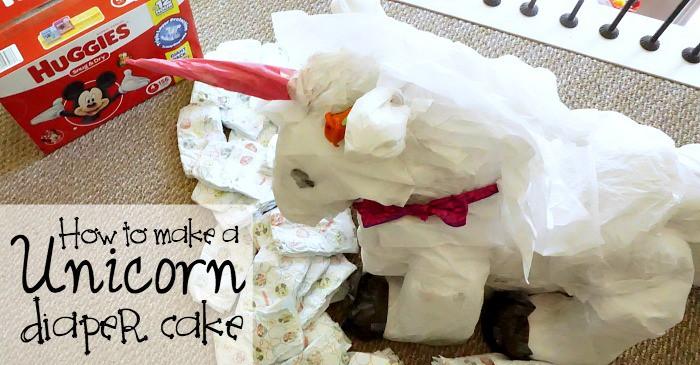 how to make a unicorn diaper cake fb
