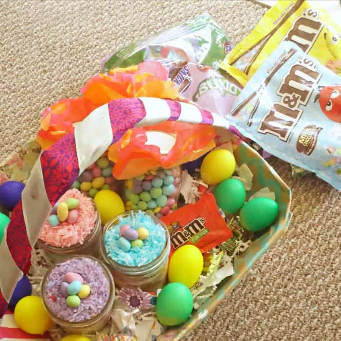 how to make an easter basket from a diaper box sq