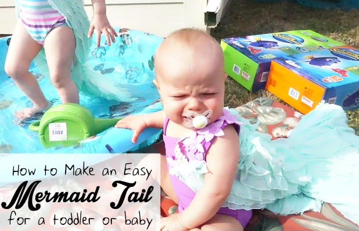 how to make an easy mermaid tail for a toddler or baby fb