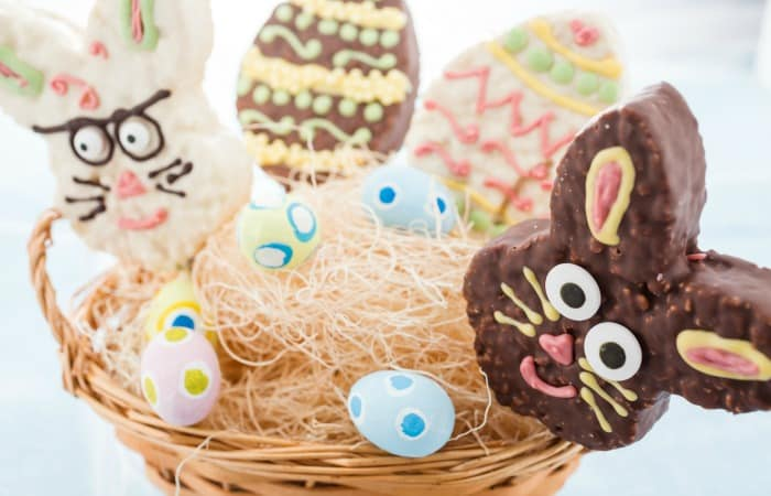 how to make bunny rice krispie treats for easter feature