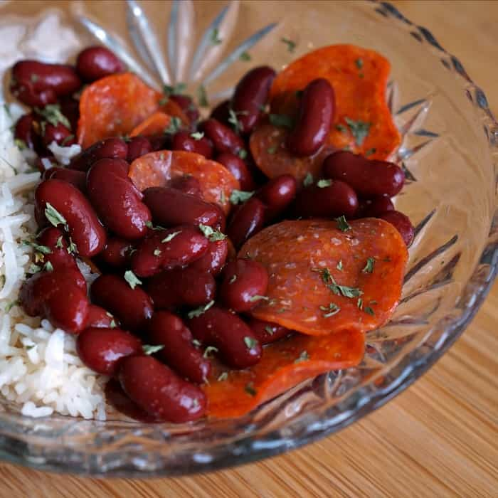 how to make cajun red beans & rice fast sq