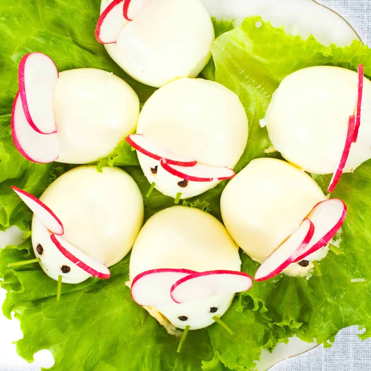 how to make deviled eggs that look like mice sq