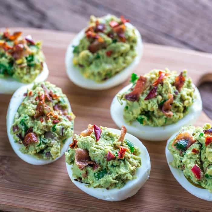 how to make guacamole deviled eggs sq