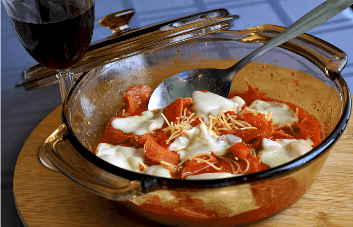 6-Minute Pepperoni Pasta with Provolone