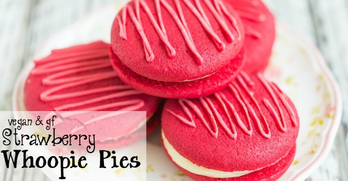 how to make vegan and gluten-free strawberry whoopie pies fb