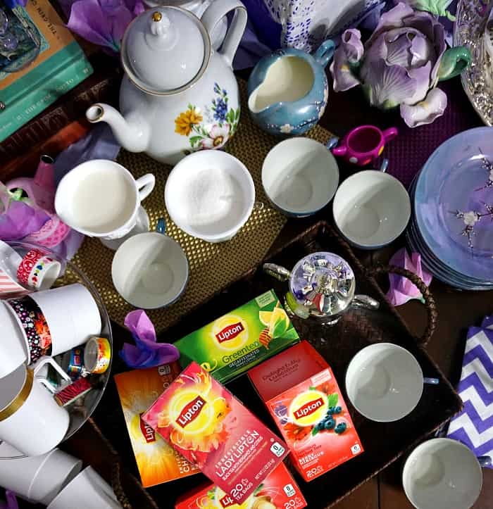 how to set up a brunch tea party scene