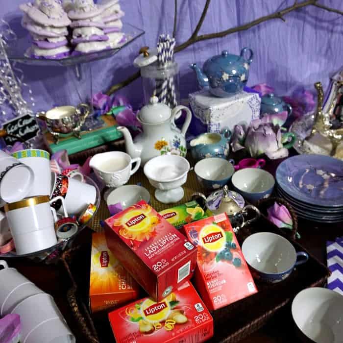 pretty little tea party idea for girls sq