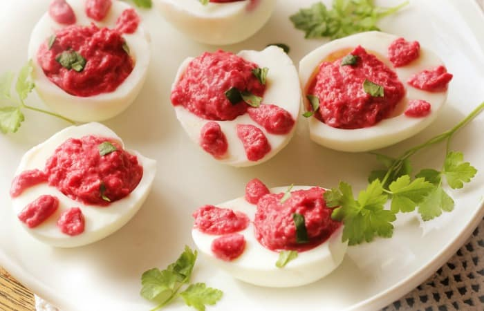 rabbit print deviled egg recipe feature