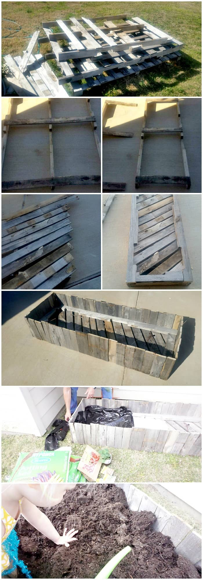how to make a garden bed from pallets