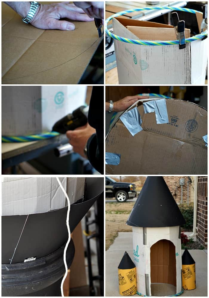 tutorial for making a cardboard box into a rocket ship for a kid