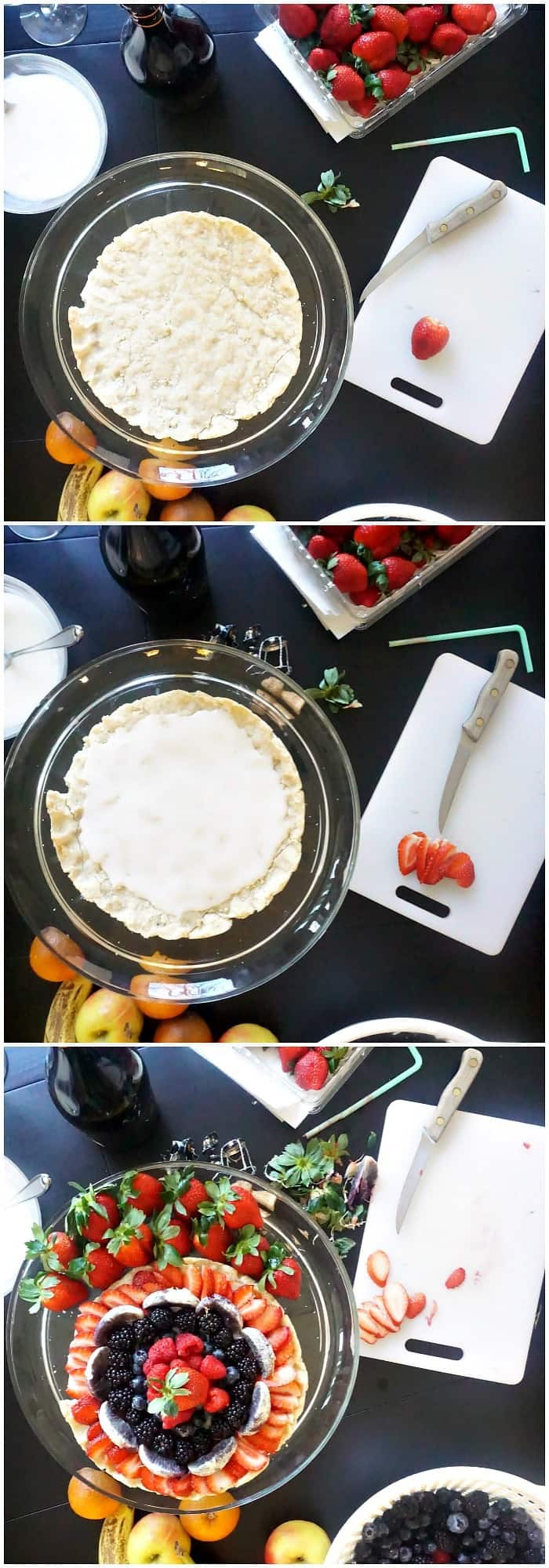 tutorial for making fruit pizza