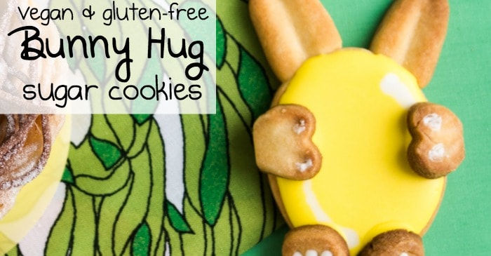 vegan and gluten-free bunny hug sugar cookies fb