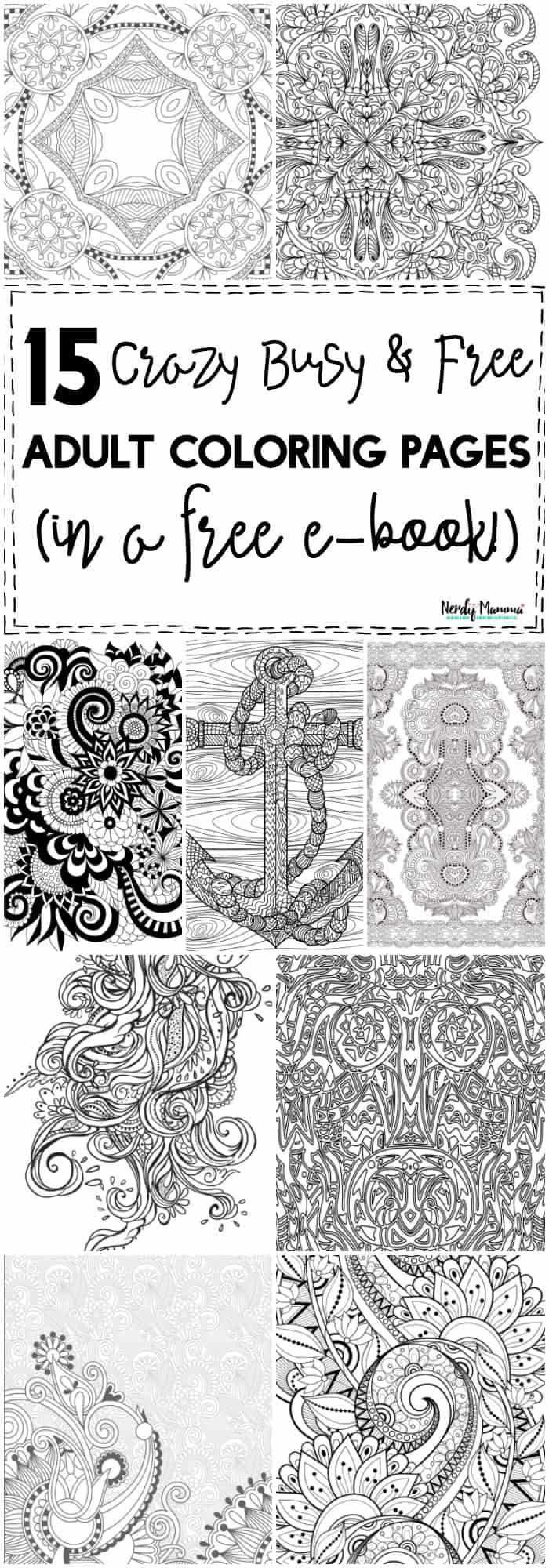 OMG! These are the BEST crazy busy & free adult coloring pages! They're in a cute little ebook too, SO EASY!