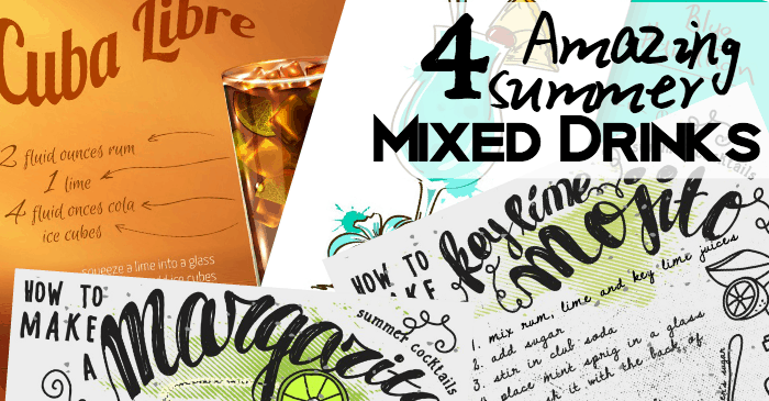 4 mixed drinks for the summer fb