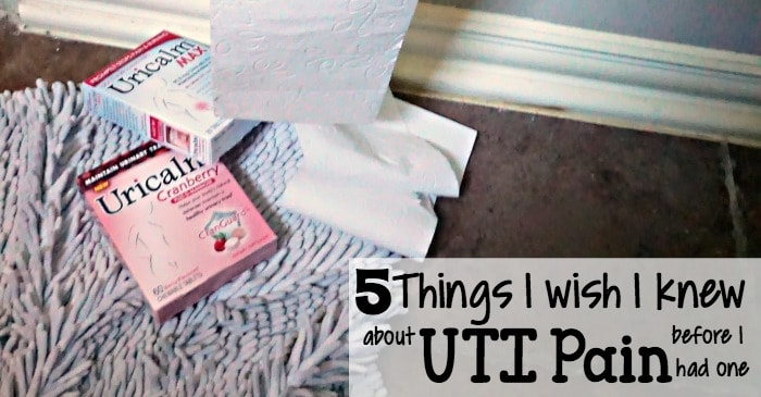 5 things I wish I knew about UTI pain before I had one fb