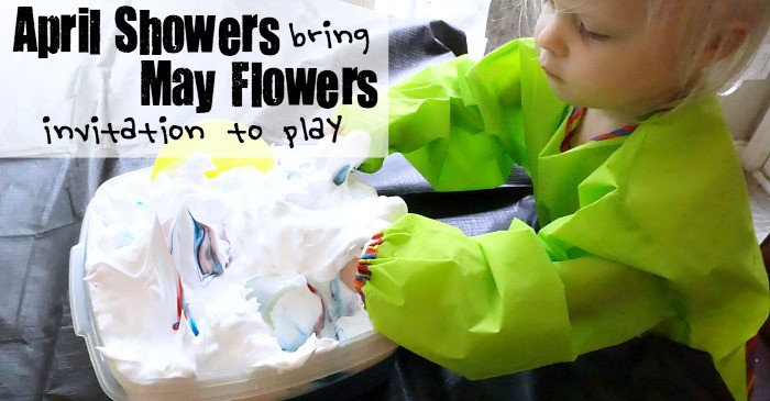 April Showers bring May Flowers Invitation to Play fb
