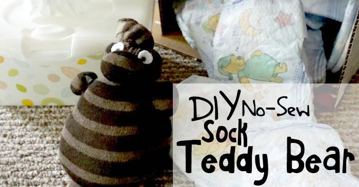 DIY no-sew sock teddy bear fb
