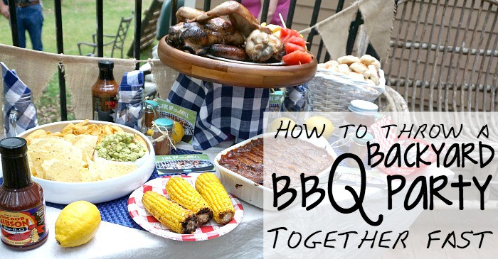How to Throw a Backyard BBQ Party Together Fast & a Giveaway! fb