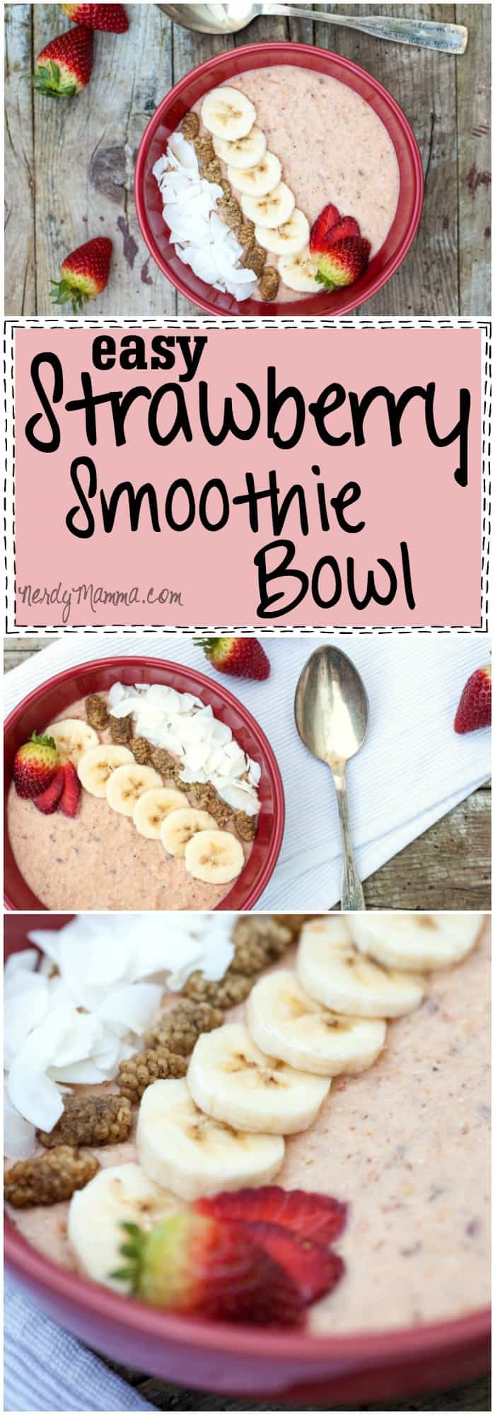 I love how easy this strawberry smoothie bowl sounds! I can't wait to try it!