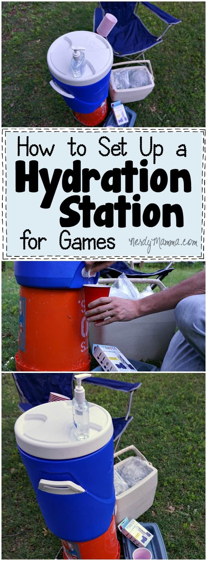 I love these tips on how to set up a hydration station for the kids at their games--I feel like the water boy, because I'm always assigned that! LOL! But this will make it so much more fun!