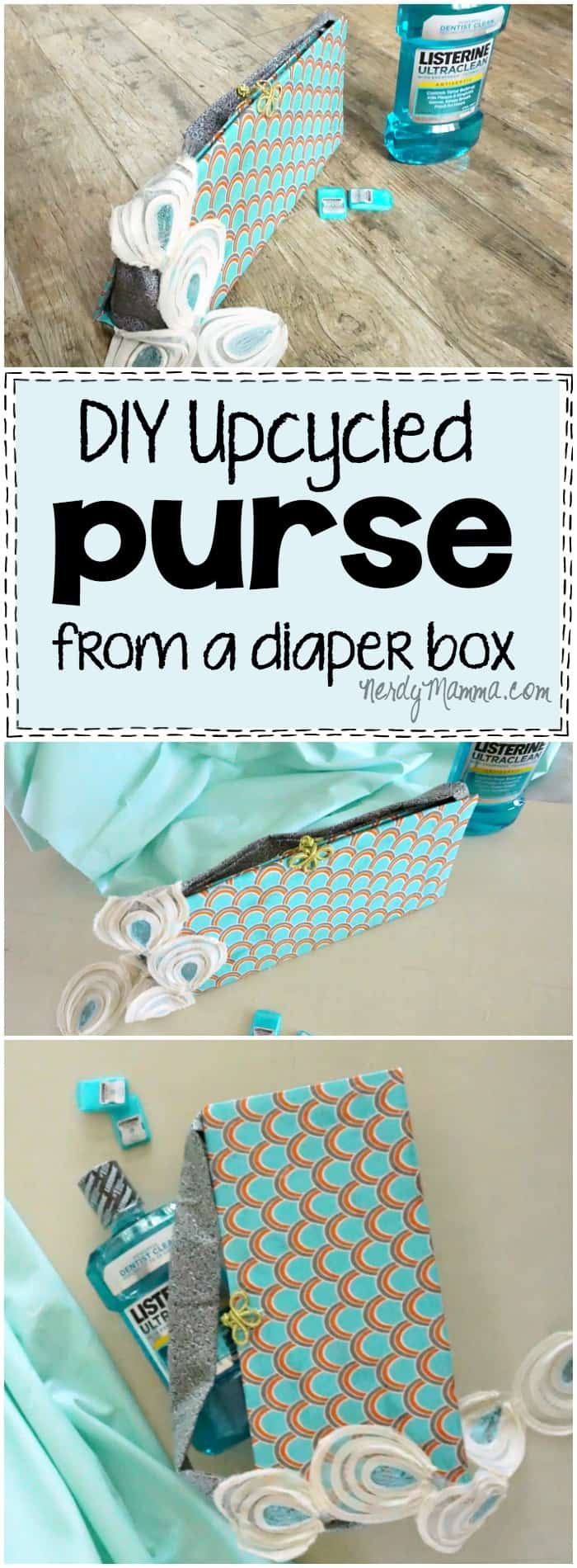 I love this quick project for making a purse out of an old cardboard box! How genius. I want to make 10! LOL!