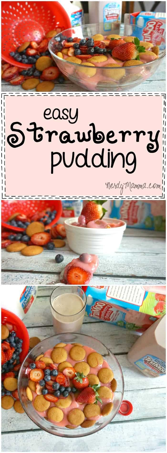 I love this recipe for easy Strawberry Pudding! It's like banana pudding, but with strawberries...how genius!