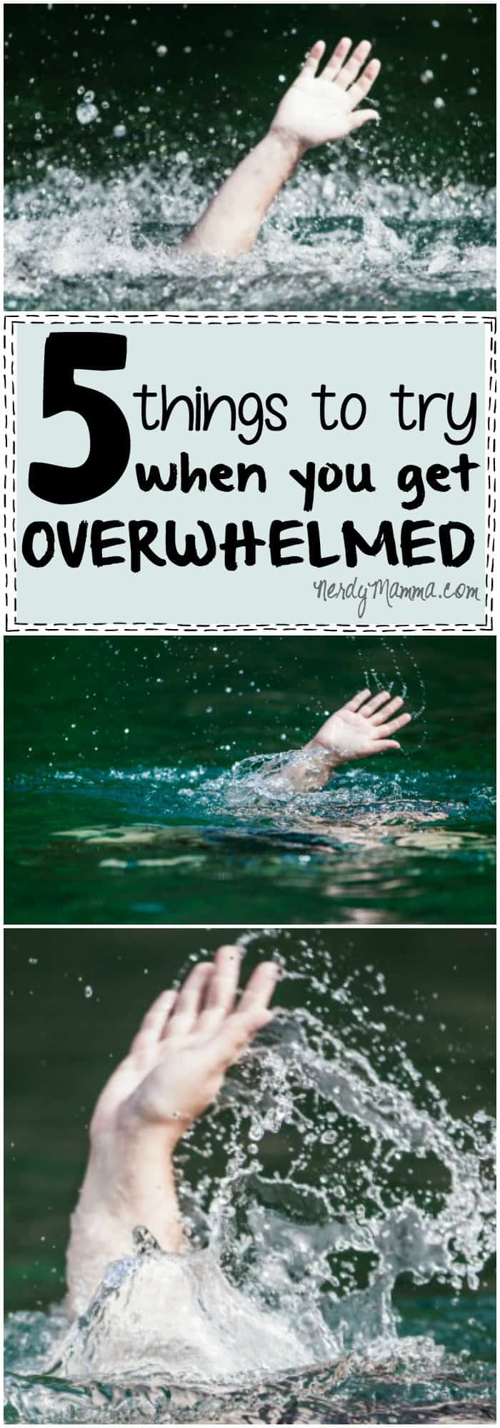 These 5 Things to Try When You Get Overwhelmed are so simple--but kind of brilliant. I will have to pin this for later!