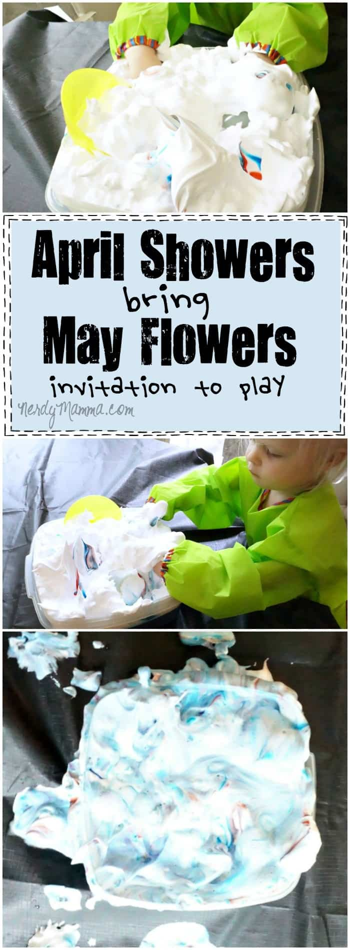 This April Showers bring May Flowers Invitation to Play is so simple! I love the idea--and it would probably keep my toddler busy for hours!