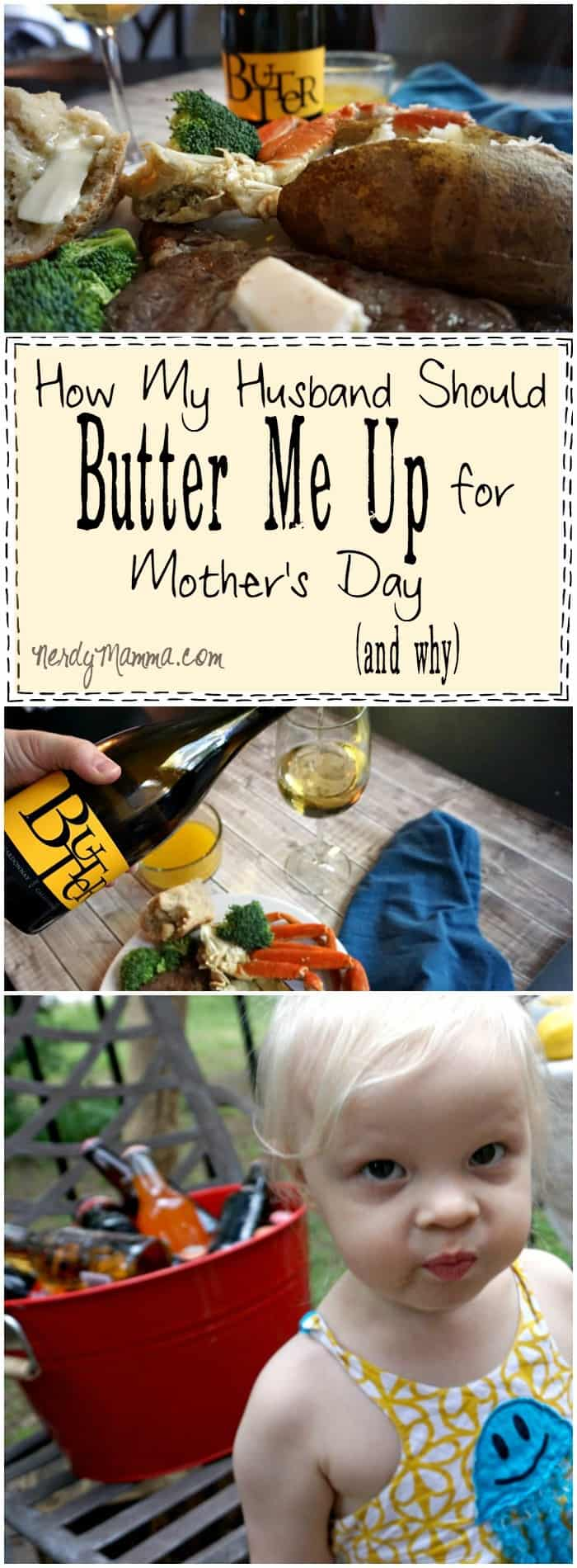 This is SO FUNNY! I mean--this mom really does deserve to be buttered-up for Mother's Day...and this is just a taste of what she's been through! LOL!