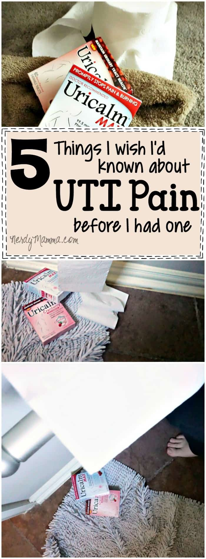 This is the most honest I've heard anyone be about UTI pain. Great to keep for remembering to talk to my daughters...