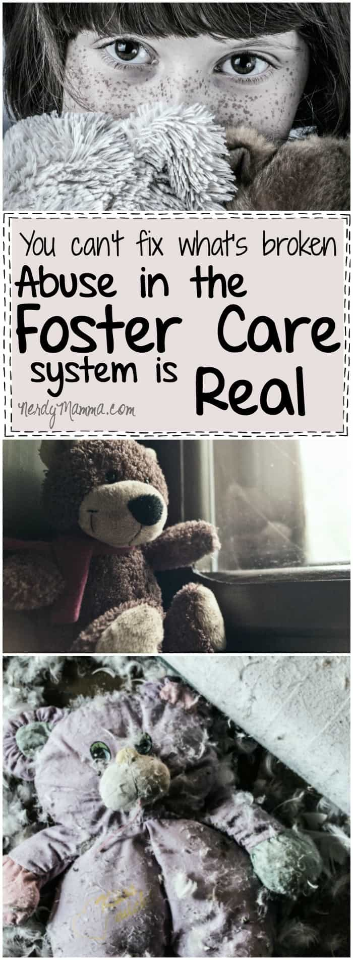 This mom's thoughts on the foster care system and the abuses her son suffered. This is hard to read.