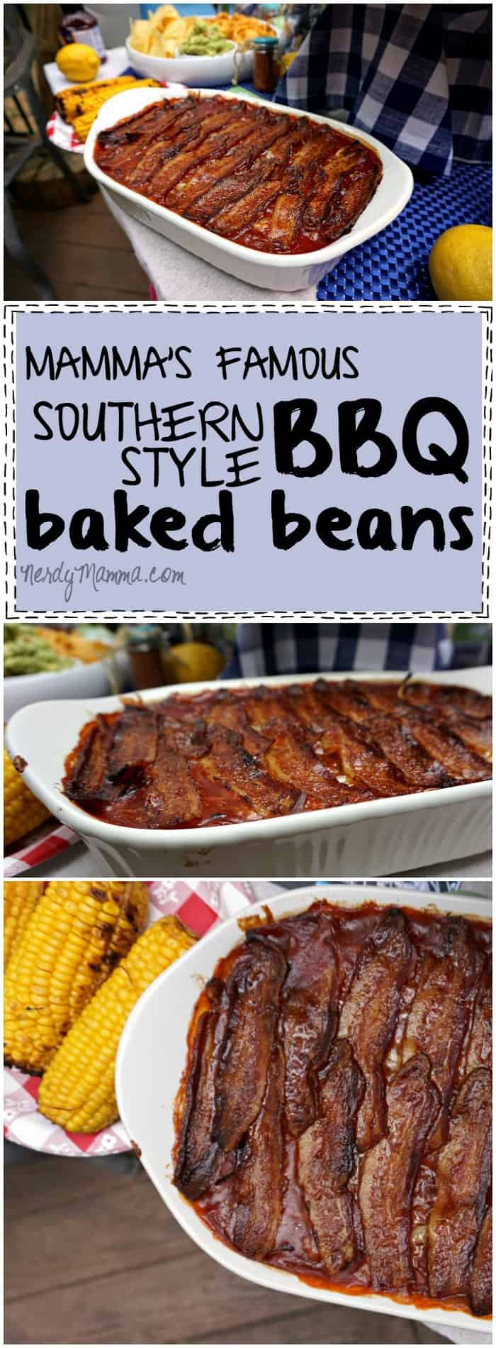 This recipe for Southern-Style Baked BBQ Beans is so easy...I thought it would be hard, but they're so simple--and yummy!