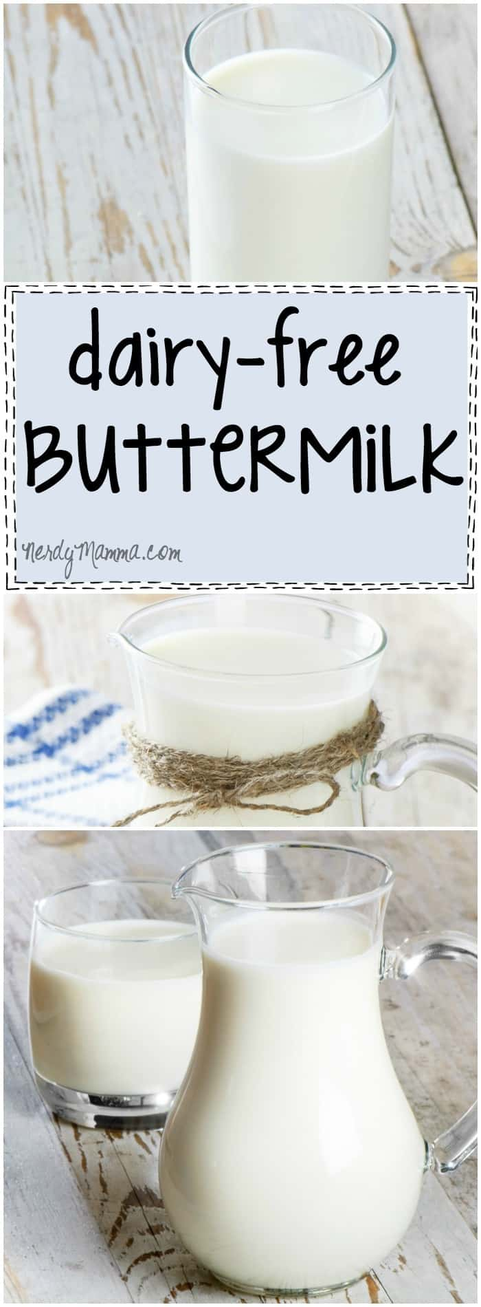This recipe for dairy-free buttermilk is so easy. I had no idea. This opens-up so many possible baking scenarios now!