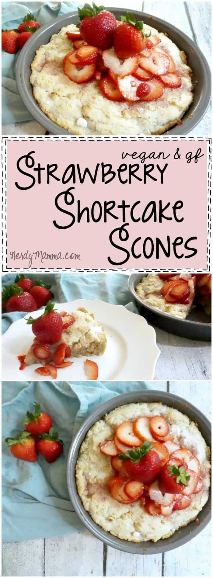 This recipe for vegan and gluten-free strawberry shortcake scones! OMG--Looks so awesome...and fluffy. I love it!