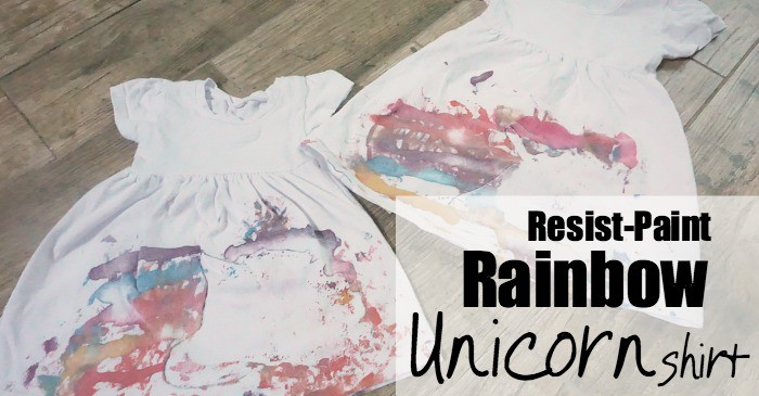 Toddler-Painted Rainbow Resist Unicorn Shirt fb
